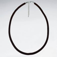 Sterling Silver Nylon Corded Necklace