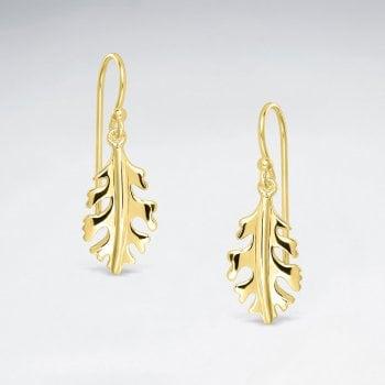 Sterling Silver Oak Leaf Hook Earrings