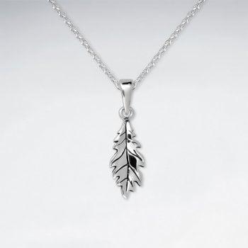 Sterling Silver Oak Leaf Pendant Necklace
