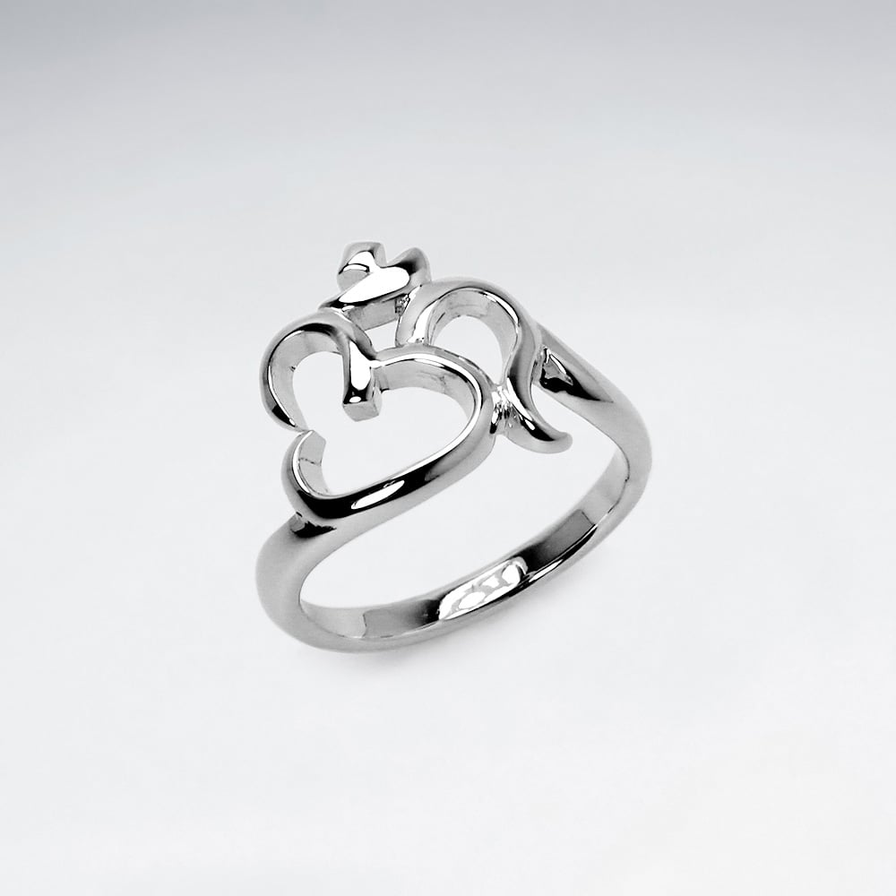 Sterling Silver Om Quot Ring From Karen Silver Design Uk