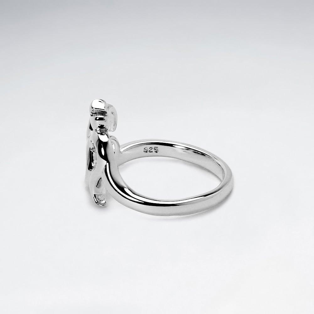 Silver Minimal Ring - Silver Nylon YnPATnwW