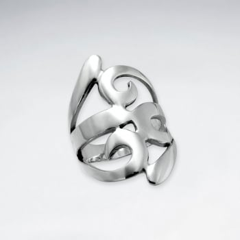 Sterling Silver Open Curve Style  Ring