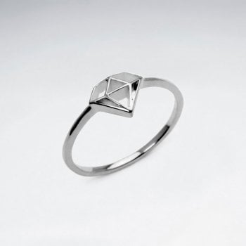 Sterling Silver Open Diamond Silhouette Ring