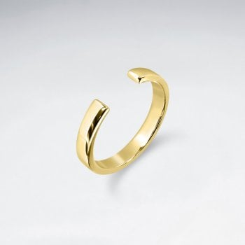 Sterling Silver Open-End Fashion Ring