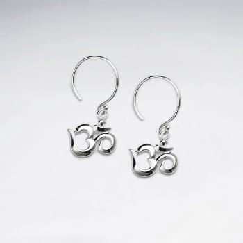 Sterling Silver Open Heart Feminine Touch Dangle Earrings