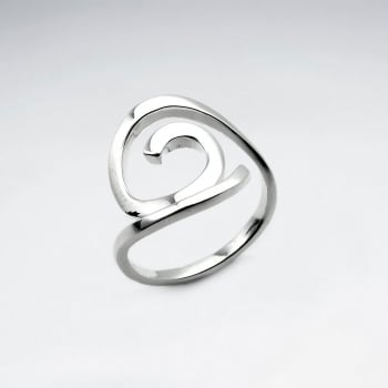 Sterling Silver Open Swirls Ring