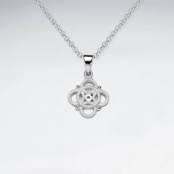 Sterling Silver Openwork Circles High Style Pendant