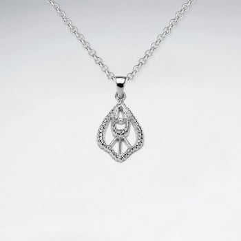 Sterling Silver Openwork Graceful Style Pendant