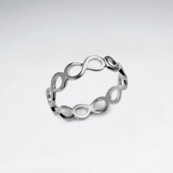 Sterling Silver Openwork Infinity Wrap Ring