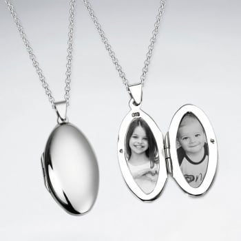 Sterling silver oval locket pendant from karen silver design uk sterling silver oval locket pendant aloadofball Gallery