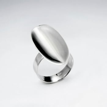 Sterling Silver Oval Plain Design Ring