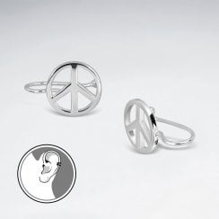 Sterling Silver Peace Sign Ear cuffs