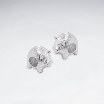 sterling Silver Piggy Beads Pack Of 5 Pieces
