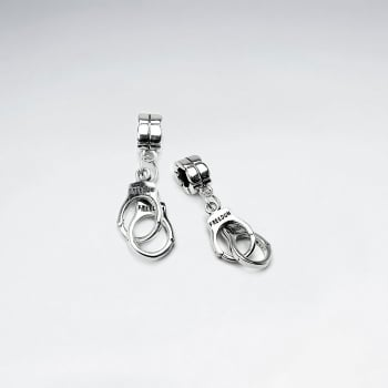 Sterling Silver Police Handcuff Charm