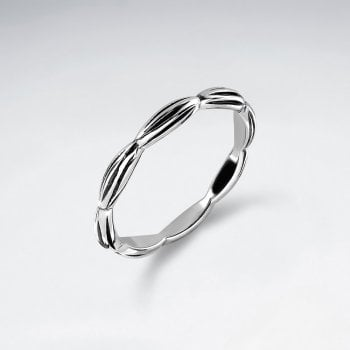 Sterling Silver Ring with Pinched Detail