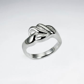 Sterling Silver Sinuous Lines Ring