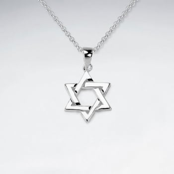Sterling Silver Six Pointed Star Pendant