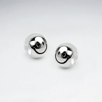 Sterling Silver Smiley Face Beads