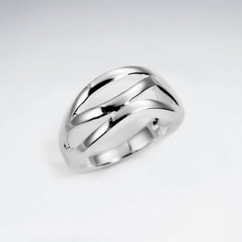 Sterling Silver Smooth Curve Design Ring