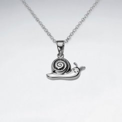 Sterling Silver Snail Pendant