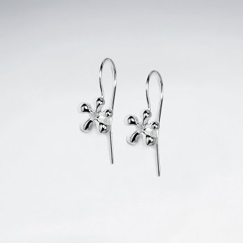 Sterling Silver Splat Hook Earrings