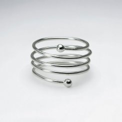 Sterling Silver Spring Coil Ring