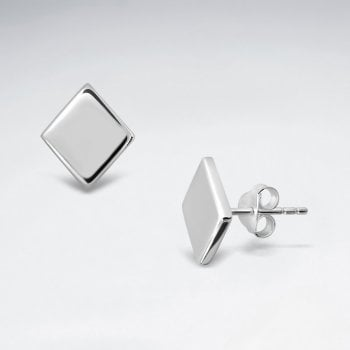 Sterling Silver Square Silver Earrings
