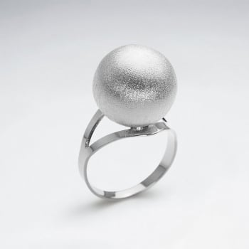 Sterling Silver Statement Sphere Ring