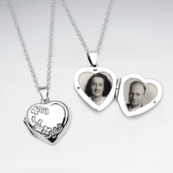 Sterling Silver Sweetheart Pendant Locket