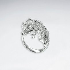 Sterling Silver Textured Reptile Ring