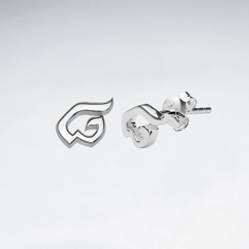 "Sterling Silver Thai Number Earring-""Eight"""
