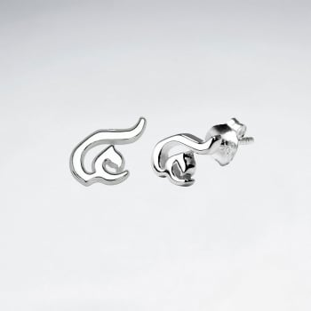 """Sterling Silver Thai Number Earring-""""Four"""""""