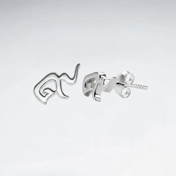 Sterling Silver Thai Number Earring Nine