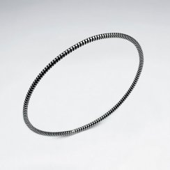 Sterling Silver Thick Ribbed Fashion Bracelet