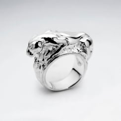 Sterling Silver Tiger Design Ring