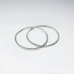 Sterling Silver Twist Band Stackable Rings Pack Of 2 Pieces