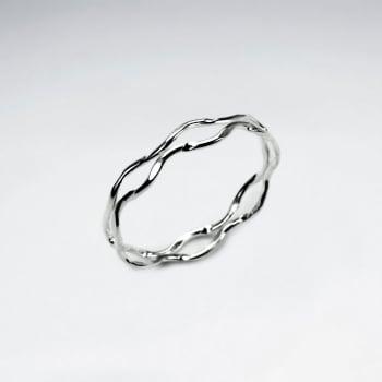 Sterling Silver Wavy Openwork Ring