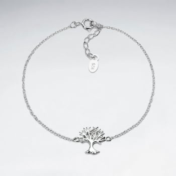 Sterling Silver Withered Tree Bracelet