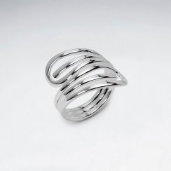 Storybook Style Sterling Silver Openwork Statement Ring