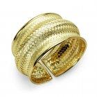 Styling Goddess Sterling Silver Basket Weave Cuff Bracelet