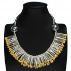 Tantalizing Pin Top Sterling Silver Bib Necklace
