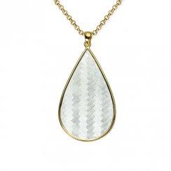 Teardrop Basket Weave Sterling Silver Pendant