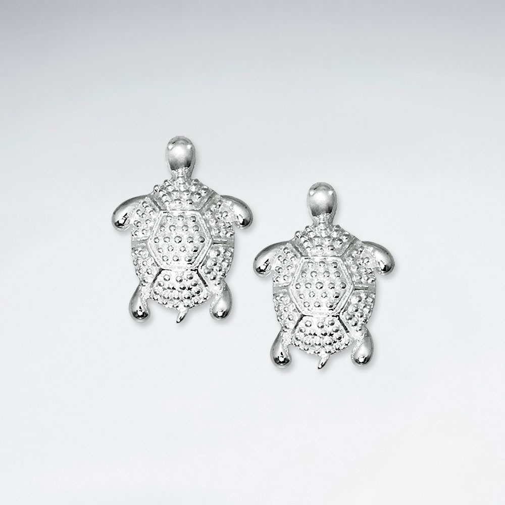 small store turtle stud silver earrings studs giftware