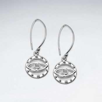 """""""The Eye of Discernment"""" Sterling Silver Threader Hook Earrings"""