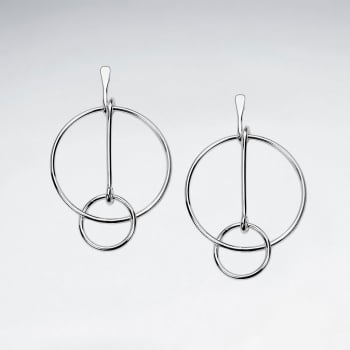 The Grand Resolve Sterling Silver Openwork Statement Earrings