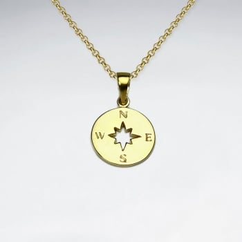 """""""The Right Way"""" Sterling Silver Compass Pendant"""