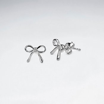 """Tied with a Bow"" Sterling Silver Stud Earrings"