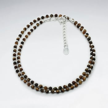 Tiger Eye Double Strand Ball Bead Bracelet