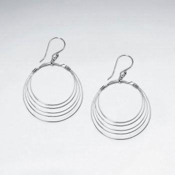 Timelessly Elegant Tiered Sterling Silver Dangle Earrings