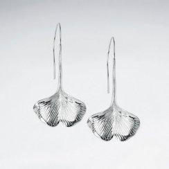 Tropical Leaf Fan Drop Earrings
